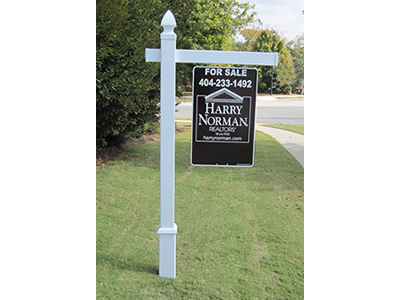 4EVER Vinyl PVC Real Estate Sign Post  amazoncom