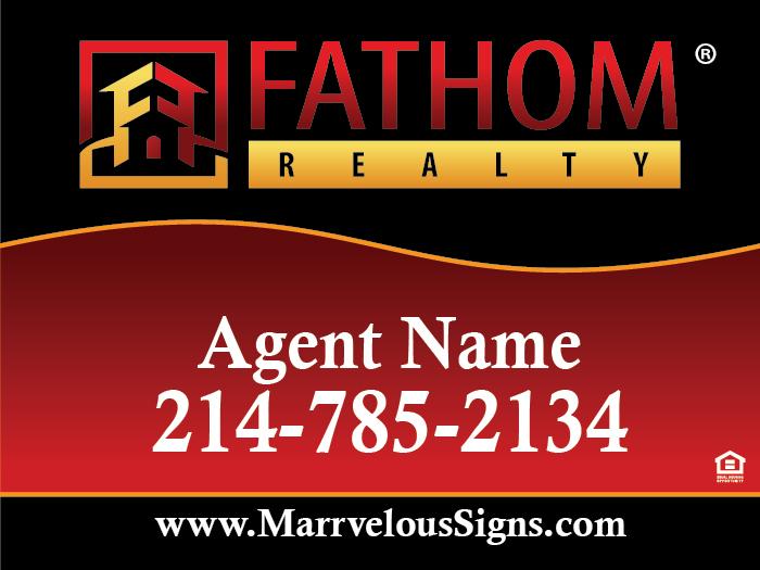 Fathom 24w X 18h Sign V5 040 Aluminum Marrvelous